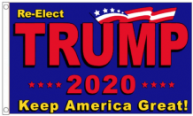 Re-elect Trump 2020 Keep America Great 5'x3' (150cm x 90cm) Imported Flag!